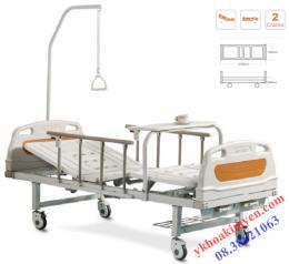 Giường bệnh nhân 2 tay quay 1 cần nâng ALK06-A233P